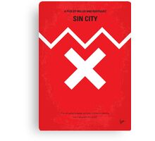 No304 My SIN CITY minimal movie poster Canvas Print