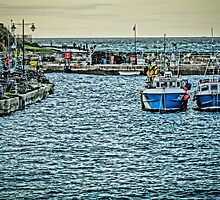 Newquay Harbour At High Tide by Peter Farrington