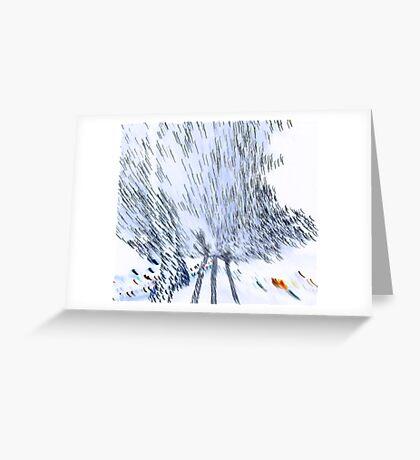 Amorphous flight Greeting Card