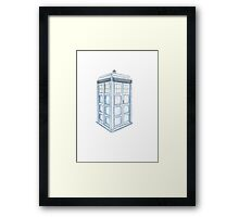 Tardis in Blue Framed Print