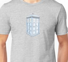 Tardis in Blue Unisex T-Shirt
