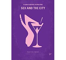 No308 My Sex and the City minimal movie poster Photographic Print