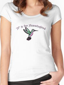 H is for Hummingbird Women's Fitted Scoop T-Shirt