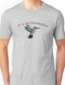 H is for Hummingbird Unisex T-Shirt