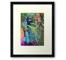 Ballet. Painting. Framed Print