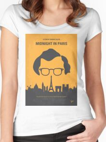 No312 My Midnight in Paris minimal movie poster Women's Fitted Scoop T-Shirt