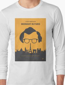 No312 My Midnight in Paris minimal movie poster Long Sleeve T-Shirt