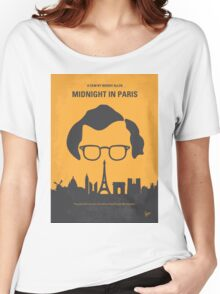 No312 My Midnight in Paris minimal movie poster Women's Relaxed Fit T-Shirt