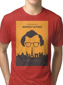No312 My Midnight in Paris minimal movie poster Tri-blend T-Shirt