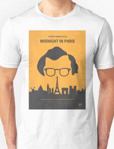 No312 My Midnight in Paris minimal movie poster T-Shirt