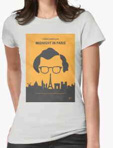No312 My Midnight in Paris minimal movie poster Womens Fitted T-Shirt