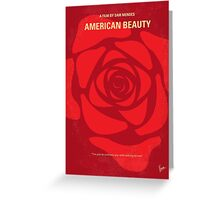 No313 My American Beauty minimal movie poster Greeting Card