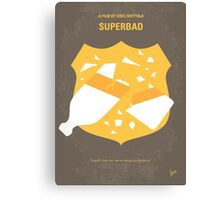 No315 My Superbad minimal movie poster Canvas Print