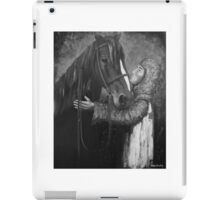 Knight and Horse in Monochrome iPad Case/Skin