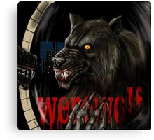 werewolf mirror  Canvas Print