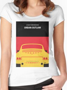 No316 My URBAN OUTLAW minimal movie poster Women's Fitted Scoop T-Shirt