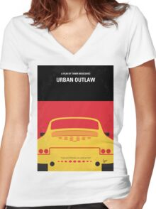 No316 My URBAN OUTLAW minimal movie poster Women's Fitted V-Neck T-Shirt