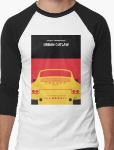 No316 My URBAN OUTLAW minimal movie poster Men's Baseball ¾ T-Shirt