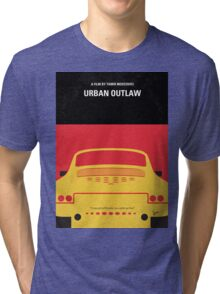 No316 My URBAN OUTLAW minimal movie poster Tri-blend T-Shirt