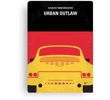 No316 My URBAN OUTLAW minimal movie poster Canvas Print