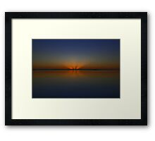 Morning Ocean Sunrise Framed Print