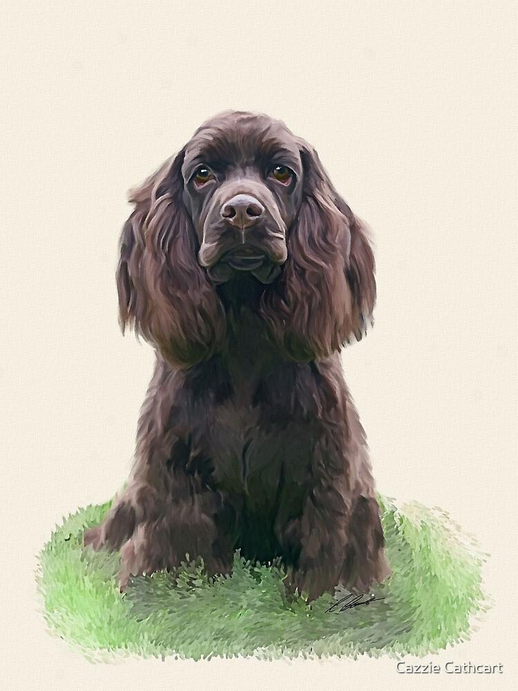 Spaniel puppy by Cazzie Cathcart