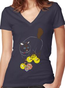 Eat . Play . Love Women's Fitted V-Neck T-Shirt