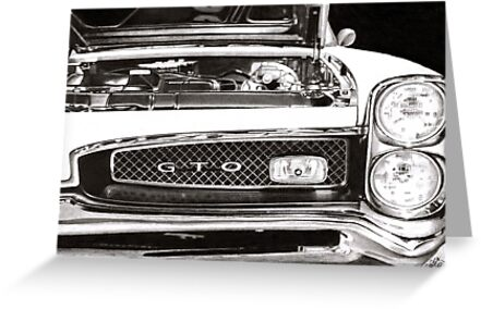 Pontiac GTO 1967  drawing by Chris-Cox