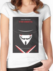 No319 My V for Vendetta minimal movie poster Women's Fitted Scoop T-Shirt