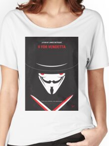No319 My V for Vendetta minimal movie poster Women's Relaxed Fit T-Shirt