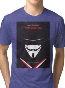 No319 My V for Vendetta minimal movie poster Tri-blend T-Shirt