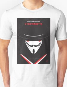 No319 My V for Vendetta minimal movie poster T-Shirt