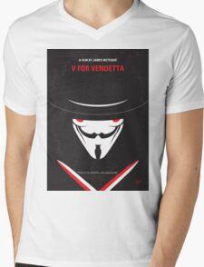 No319 My V for Vendetta minimal movie poster Mens V-Neck T-Shirt
