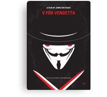 No319 My V for Vendetta minimal movie poster Canvas Print