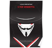No319 My V for Vendetta minimal movie poster Poster
