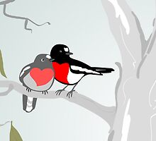 Scarlet Robins in Love by Dan & Emma Monceaux