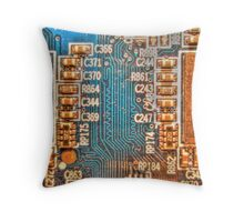 Circuitry Throw Pillow