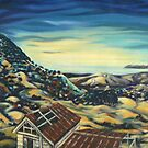 View from Mt Chincogan- landscape by horseback by maria paterson
