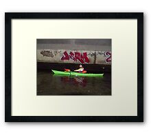 Kayak with Graffiti Framed Print