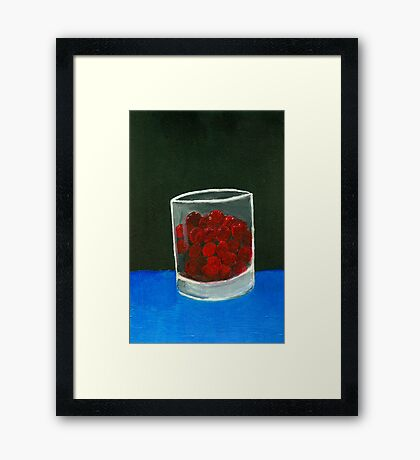 Glass of sweets Framed Print