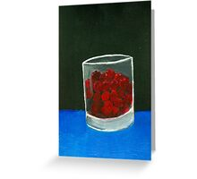 Glass of sweets Greeting Card