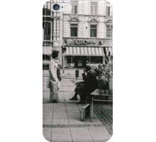 Flower seller on Gustav Adolfs torg early 1970s iPhone Case/Skin