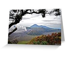 Mount Bromo Greeting Card