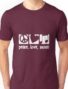 Peace. Love. Music. Unisex T-Shirt