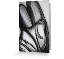 Woman's back drawing Greeting Card