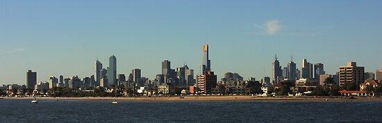 Melbourne skyline by EblePhilippe