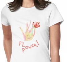 Flower Power Tee and Baby Grow Womens Fitted T-Shirt