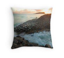 Fingal Fisherman - Fingal NSW Throw Pillow
