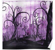 Hidden Hearts Trees Surreal Fantasy Landscape Art Poster
