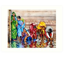 Along the Ganges Art Print